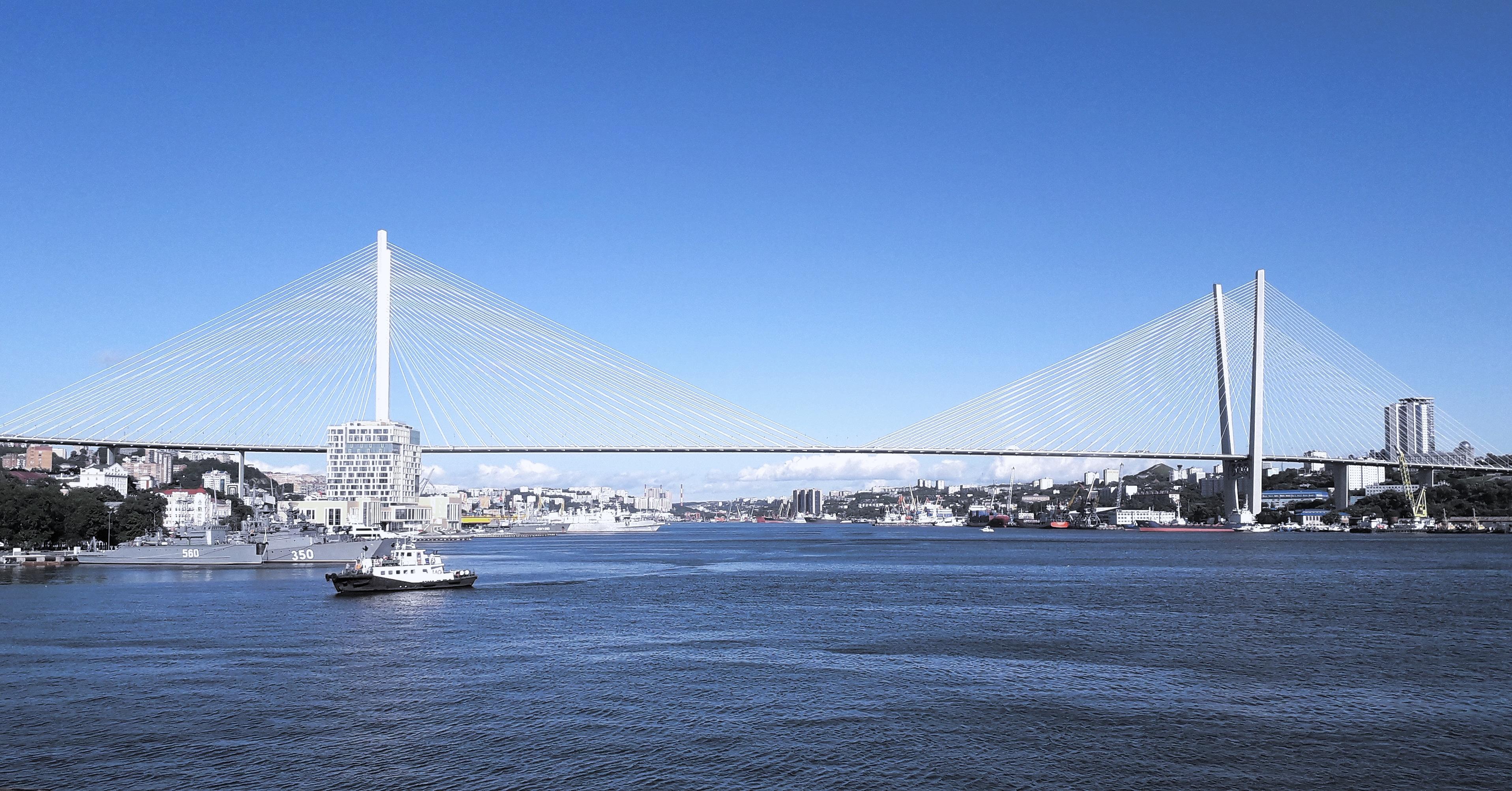 Панорамные фото мостов владивостока